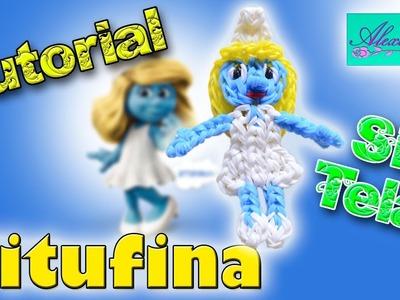 ♥ Tutorial: Pitufina de gomitas (sin telar) ♥