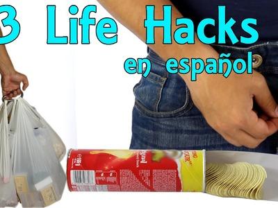 3 Life Hacks en Español #8 - Hacks en la vida real (Experimentos Caseros)
