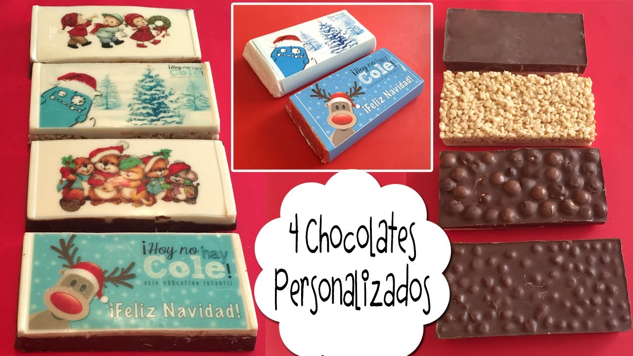 4 Chocolates personalizados con chocotransfer