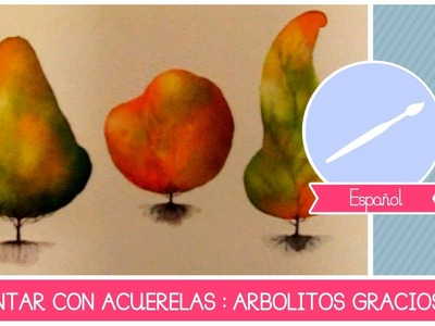 ACUARELA: como pintar ARBOLES estilo cartoon - Tutorial facil para principiantes (clase de ARTE)