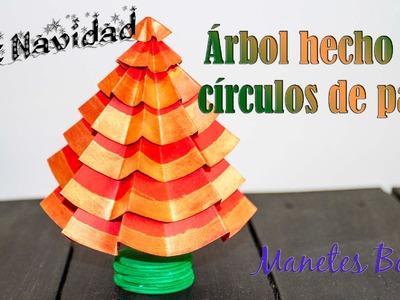 Árbol de Navidad hecho con círculos de papel | Viernes de papel - Tutorial DIY