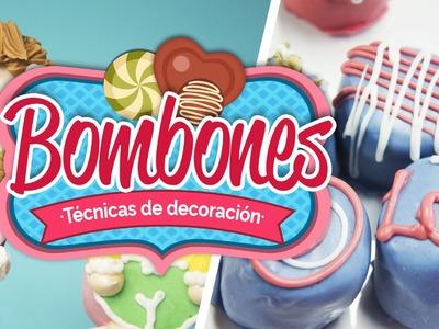 Bombones, técnicas de decoración