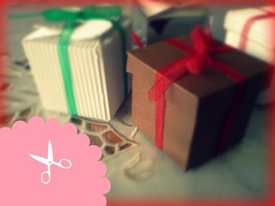 Cajitas navideñas + Regalo + Fácil