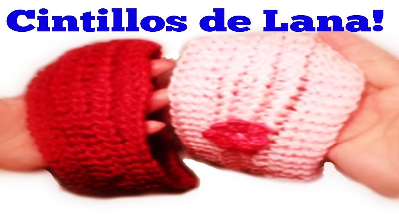 Cintillo o diadema de lana  tejido  con dos agujas.how to knit a headband with  two needles