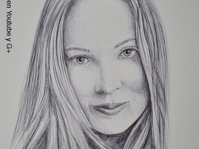 Cómo dibujar un retrato con bolígrafo- Arte Divierte.