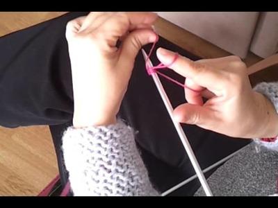 Cómo empezar una labor de punto en dos agujas,ejem: una bufanda