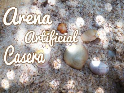 Como hacer arena de playa casera.