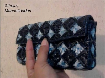 Como hacer bolso de rafia
