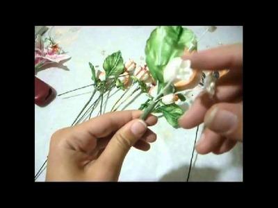 Como hacer Ramo de novia con rosas en goma eva