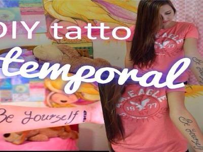 Como hacer tatuajes temporales en 5 minutos- SIN Henna o plumon- Facil y rapido