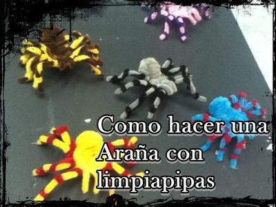 Como hacer una araña con limpiapipas