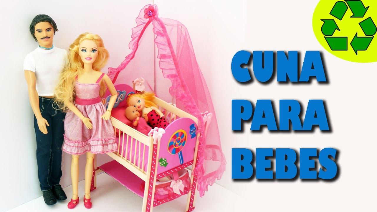 Cómo hacer una cuna para los bebes de tus muñecas - Manualidades para muñecas