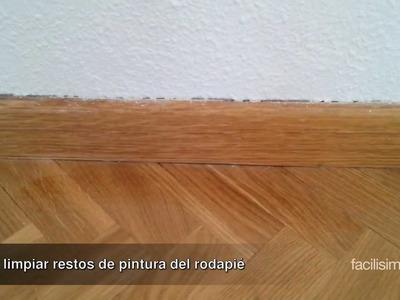 Cómo limpiar restos de pintura del rodapié | facilisimo.com