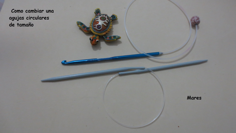 Como preparar aguja circular para hacer gorro