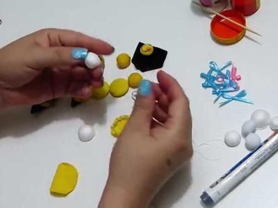 DIY aplique de abejas con botones miniatura, para decorar accesorios, ropa