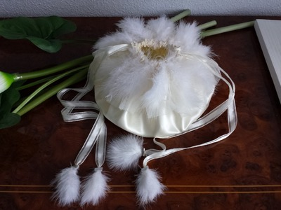 DIY BOLSO DE NOVIA, COMUNION O PARA FIESTA DE QUINCE - BRIDE, COMMUNION OR FIFTEEN PARTY PURSE