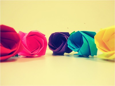 DIY Como Hacer Rosas papel