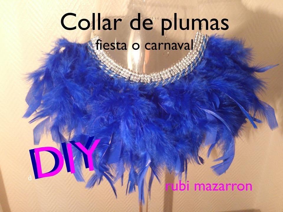Diy Necklace.Collar plumas para fiestas o carnaval