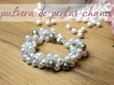 DIY Pulsera de perlas Chanel