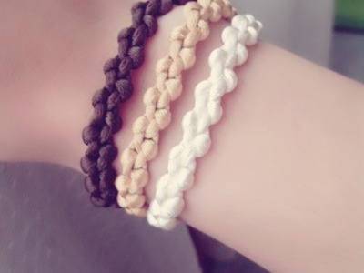 DIY pulsera triple, ¡Super facil! c.nudo macrame