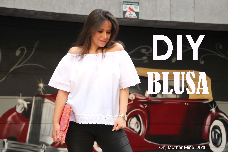 DIY Ropa: Blusa sin hombros (patrones gratis)