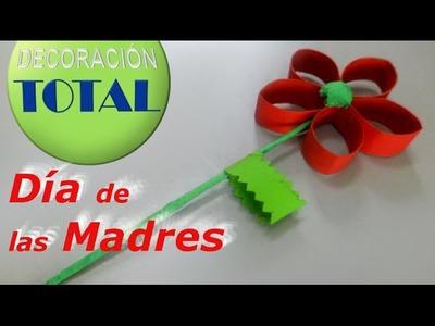 Flor Fácil de Reciclaje del Día de las Madres para realizar con los niños
