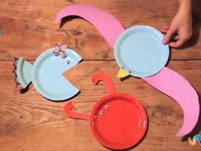 Hacer animales con platos de papel