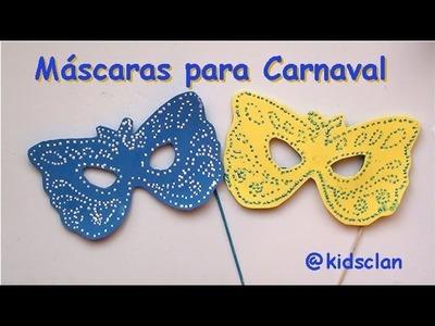 Máscaras de Carnaval - Manualidad