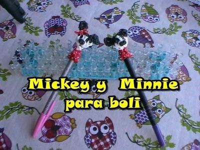 Mickey Minnie para lápiz o boli y saludos