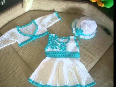 Modelos de vestidos para el verano tejidos a crochet para niñas