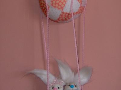 Muñecos Soft. globo aerostático con conejos. proyecto 98