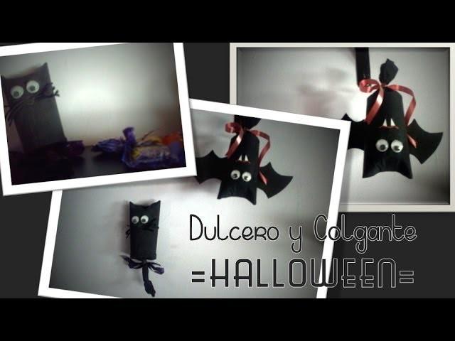 Murcielago y Gato: Dulcero + Colgante | HALLOWEEN | Reciclaje