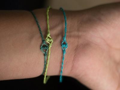 Pulsera de los deseos pulseras de hilo fáciles de hacer
