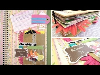 Smash Book Terapia: 4.05.13 *Cómo hacer un diario de Scrap* Smash book tutorial