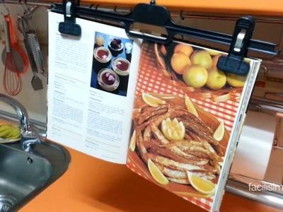 Truco para sujetar el libro de recetas | facilisimo.com