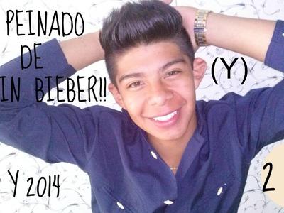 (Y) PEINADO|2X1 EL PEINADO DE JUSTIN BIEBER 2013 Y 2014|PEINADOS PARA HOMBRES|EL BUENACHO