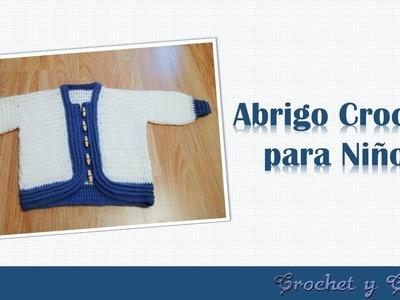 Abrigo - chaqueta a crochet – ganchillo para niños - Parte 1