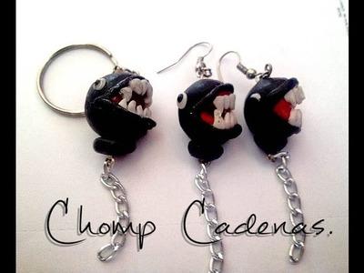 Aretes o llaveros de Chomp Cadenas,súper Mario Bros | manualidades fáciles