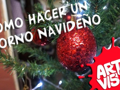 ARTE VISUAL - CÓMO HACER UN ADORNO DE NAVIDAD (esfera para árbol de navidad)