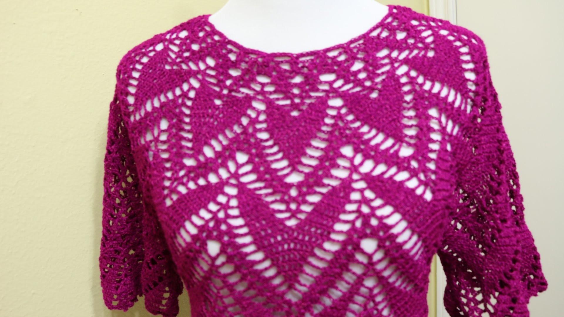 Blusa Corazones Crochet parte 1 de 2