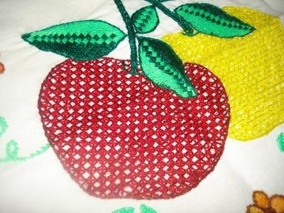 Bordado Fantasía Manzana # 1