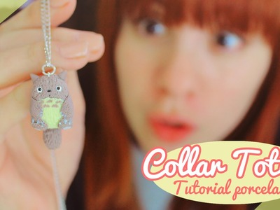 ♡ Collar de Totoro!. Tutorial porcelana en frío ♡ By Piyoasdf