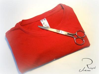 Como hacer trapillo reciclando camisetas para hacer collares de nudo celtas