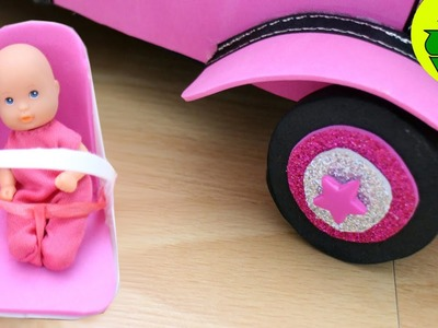 Cómo hacer un asiento de  seguridad para el coche y los bebés de tus muñecas