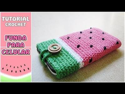 Cómo hacer una funda para el celular a crochet, paso a paso