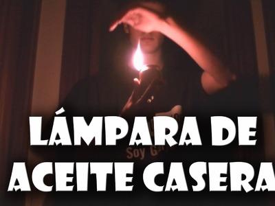 Cómo hacer una lámpara para cualquier aceite o combustible líquido