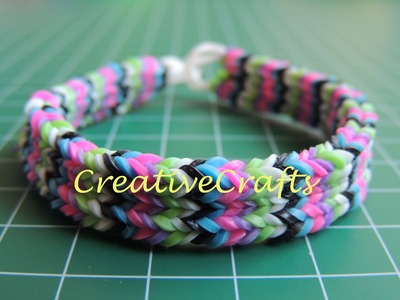 Como hacer una pulsera Flexafish de gomitas Rainbow Loom Bracelet Flexafish.