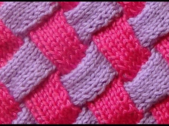 Cómo Tejer ENTRELAC-How to Knit Entrelac 2 Agujas (293)