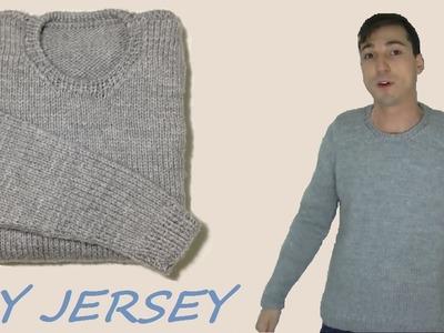 Cómo tejer jersey o sueter de hombre, 1a de 3 partes (MANGAS)