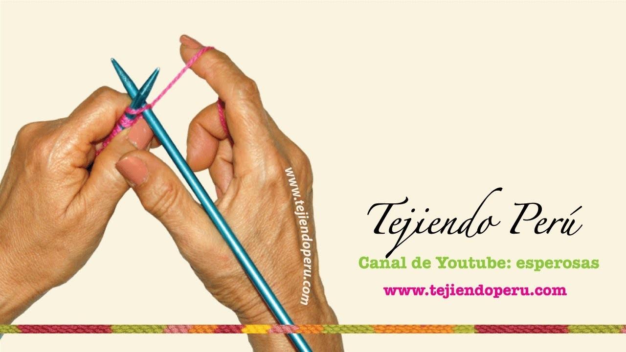 Curso básico de tejido en dos agujas, tricot o palillos (Parte 2)